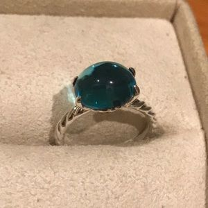 Authentic David Yurman Ring with Blue stone